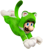 Cat Luigi - Super Mario 3D World