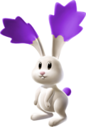 Purple Chasing Star Bunny