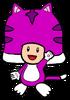 2D Cat Purple Toad