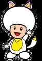2D White Kitsune Yellow Toad