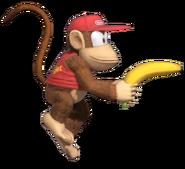 1.4.Diddy Kong preparing his Banana Gun