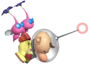 0.8.Olimar flying with Winged Pikmin