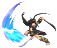 0.5.Dark Pit swinging his Blade