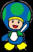 2D Penguin Green Toad