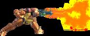 1.11.Samus using her flamethrower