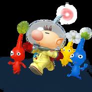 Captain Olimar and Pikmin - Super Smash Bros. for Nintendo 3DS and Wii Urender