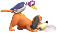 0.17.Duck Hunt Dog picking up a Clay Pigeon