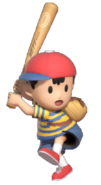 0.5.Ness preparing to swing his Bat