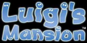 The Luigi's Mansion series logo.