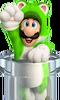 Cat Luigi Pipe Artwork - Super Mario 3D World