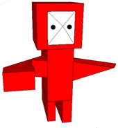 Red 3D buffoon