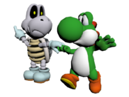 Dry Bones and Yoshi as couple