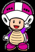 2D Boomerang Purple Toad