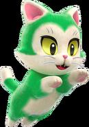 SM3DW+BF Artwork Cat (Green)