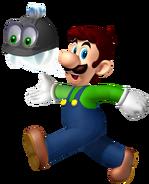 Luigi walking with helmer