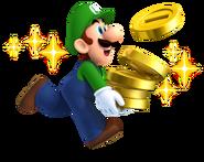 Luigi with Coins