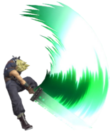 0.12.Cloud Swinging his Sword Downwards