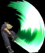 0.12.Cloud Swinging his Sword Downwards