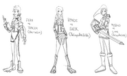 Pyro's character Halloween sketches