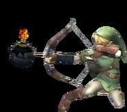 0.6.Twilight Princess Link preparing to shoot a bomb arrow
