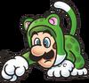 Cat Luigi 2D Art Shaded