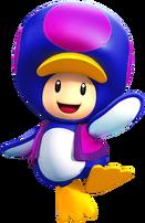 Penguin Purple Toad