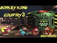 Donkey Kong Country 3 Walkthrough HD (+ Ending)