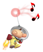 0.8.Olimar using his whistle while Flying