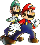 M&LSS - Mario and Luigi promo artwork transparent
