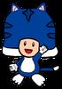 2D Cat Blue Toad
