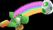 1.5.Green Yoshi throwingn an Egg