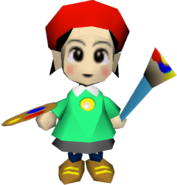 Nintendo 64 - Kirby 64 The Crystal Shards - Adeleine (Low-Poly)