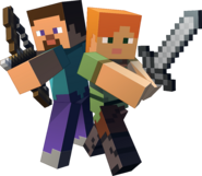 Steve and Alex - Minecraft