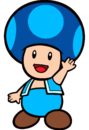 2D Ice Blue Toad