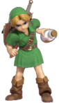 1.5.Young Link holding a bottle of Lon Lon Milk