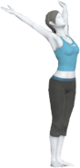 0.21.Female Wii Fit Trainer Saluting the Sun
