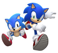 Modern and classic sonic