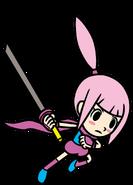 Kat with her katana