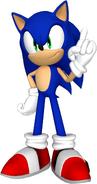 Sonic the hedgehog render by detexki99-damt0rr