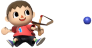 0.2.Red Villager using his Sling Shot
