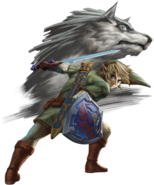 TPHD Link and Wolf Link Artwork