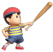 0.7.Ness Holding his bat