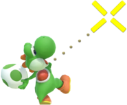 1.4.Green Yoshi aiming an Egg