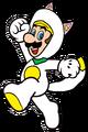 2D White Kitsune Luigi