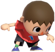0.7.Red Villager Pointing Down