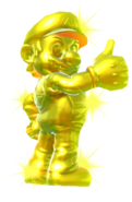 7.Golden Mario giving Thumbs Up