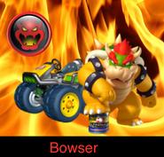 Bowser in Mario Kart 9