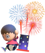 0.4.Red Villager surprised by Fireworks
