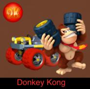 Donkey Kong in Mario Kart 9