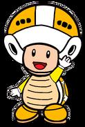 2D Boomerang Yellow Toad